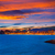 naplemente · tengerpart · Spanyolország · égbolt · város · nap - stock fotó © lunamarina