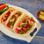 salsa · saus · houten · tafel · voedsel · restaurant · Rood - stockfoto © lunamarina