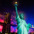 liberty statue brooklyn bridge july 4th fireworks stock photo © lunamarina