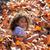Kid · fille · automne · feuille · jouer - photo stock © lunamarina
