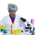Nerd crazy scientist man portrait working at laboratory stock photo © lunamarina
