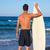 adolescente · surfista · agua · masculina · caminando - foto stock © lunamarina