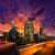 centro · da · cidade · la · noite · Los · Angeles · pôr · do · sol · linha · do · horizonte - foto stock © lunamarina