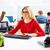 blond businesswoman working office with computer stock photo © lunamarina
