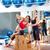 mulher · grávida · pilates · exercer · exercício · ginásio · personal · trainer - foto stock © lunamarina