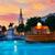 london trafalgar square fountain at sunset stock photo © lunamarina