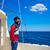 barbe · marin · homme · voile · mer · bateau - photo stock © lunamarina