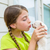 Girl playingkissing puppy chihuahua pet dog stock photo © lunamarina