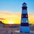 denia sunset lighthouse at dusk in alicante stock photo © lunamarina