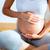 piękna · kobieta · w · ciąży · masażu · brzuch · ręce · domu - zdjęcia stock © lunamarina