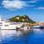 Средиземное · море · порта · деревне · замок · горные · синий - Сток-фото © lunamarina