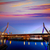 Boston Zakim bridge sunset in Massachusetts stock photo © lunamarina