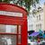 london telephone box inportobello road uk stock photo © lunamarina