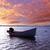 boat sunset estany des peix in formentera balearic island stock photo © lunamarina