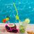 mojito · cocktail · spiaggia · di · sabbia · cocco · occhiali · da · sole - foto d'archivio © lunamarina