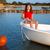 dziecko · dziewczyna · marynarz · łodzi · łuk · szczęśliwy - zdjęcia stock © lunamarina