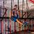 jovem · ginasta · treinamento · anéis · atravessar · trem - foto stock © lunamarina