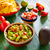 meksika · yemekleri · karışık · nachos · çili · sos · çedar - stok fotoğraf © lunamarina