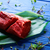 ternera · servido · placa · cuchillo · tenedor · alimentos - foto stock © lunamarina