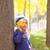 ребенка · девушки · осень · тополь · лес · желтый - Сток-фото © lunamarina