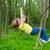 fille · heureuse · jouer · forêt · parc · jungle · heureux - photo stock © lunamarina