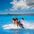 幸せ · 男 · ジャンプ · ビーチ · 日 · 時間 - ストックフォト © lunamarina