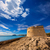 moraira castle in teulada beach at mediterranean alicante stock photo © lunamarina