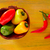 colorful mexican chili peppers in yellow stock photo © lunamarina