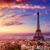 ufuk · çizgisi · Paris · Eyfel · Kulesi · şehir · ünlü · üzerinde - stok fotoğraf © lunamarina