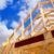 american residential wooden house contruction stock photo © lunamarina