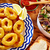 tapas · tintahal · gyűrűk · tengeri · hal · Spanyolország · kenyér - stock fotó © lunamarina