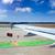 vliegtuig · vleugel · luchthaven · verkeersborden · hemel · landschap - stockfoto © lunamarina