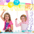 children happy birthday party girls with balloons stock photo © lunamarina