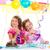 mutlu · küçük · sarışın · kız · doğum · günü · partisi · gülme - stok fotoğraf © lunamarina