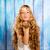 sarışın · kız · saç · güzel · çilek - stok fotoğraf © lunamarina