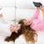 kid girls having fun playing with tablet pc lying sofa stock photo © lunamarina