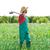 landbouwer · man · schoffel · naar · veld · boomgaard - stockfoto © lunamarina