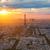 Эйфелева · башня · Париж · антенна · закат · Франция · небе - Сток-фото © lunamarina