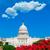 edifício · Washington · DC · rosa · flores · EUA · jardim - foto stock © lunamarina