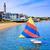 barcos · areia · branca · praia · longo · cauda · branco - foto stock © lunamarina