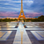 eiffel tower from trocadero edited reflection stock photo © lunamarina