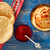 hummus with pita bread and red pepper powder stock photo © lunamarina