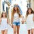 criança · meninas · caminhada · mão · mediterrânico · aldeia - foto stock © lunamarina