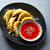 mosterd · zaden · plaat · geïsoleerd · witte · voedsel - stockfoto © lunamarina