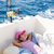 ребенка · девушки · парусного · лодка · палуба - Сток-фото © lunamarina