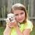 criança · menina · cachorro · animal · de · estimação · jogar · feliz - foto stock © lunamarina