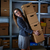 lächelnd · Geschäftsfrau · halten · Karton · Boxen · Business - stock foto © lunamarina