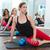Aerobics pilates women with toning balls in a row stock photo © lunamarina
