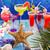 kleurrijk · tropische · cocktails · strand · Blauw · hout - stockfoto © lunamarina