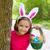 páscoa · menina · ovos · cesta · engraçado · coelho - foto stock © lunamarina